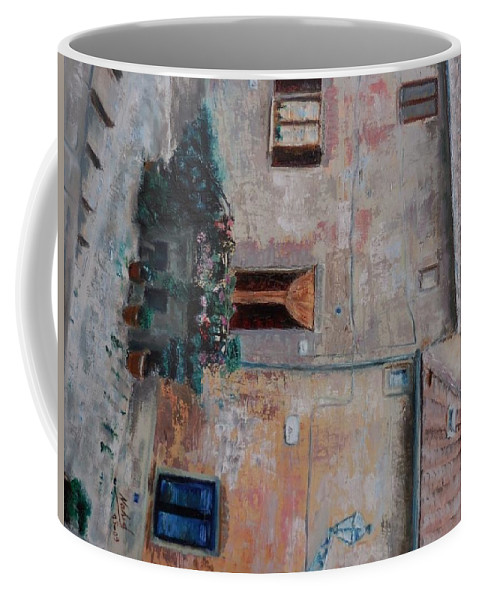 Landscape Coffee Mug featuring the painting Tuscany by Nahid Shukralla