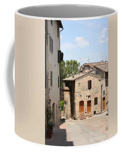 House Coffee Mug featuring the photograph Tuscany Street by Christiane Schulze Art And Photography