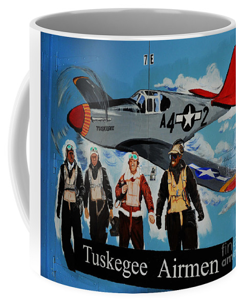 Redtails Coffee Mug featuring the photograph Tuskegee Airmen by Leon Hollins III