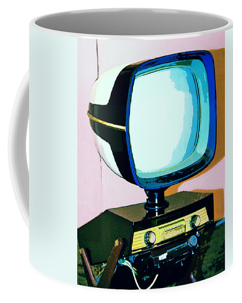Modernism Coffee Mug featuring the photograph TV LAND Palm Springs by William Dey