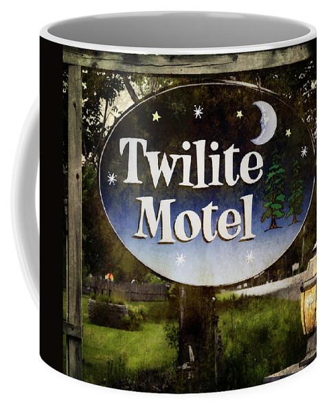 Maine Coffee Mug featuring the photograph Twilight Motel by Joan Carroll