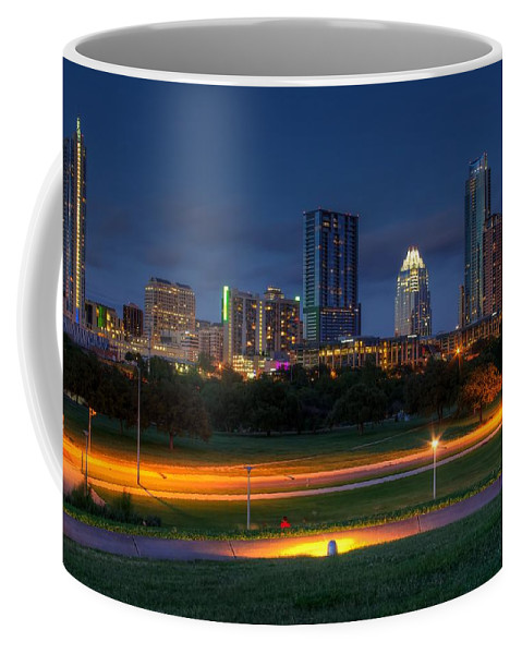 City Coffee Mug featuring the photograph Twilight Skyline by Dave Files