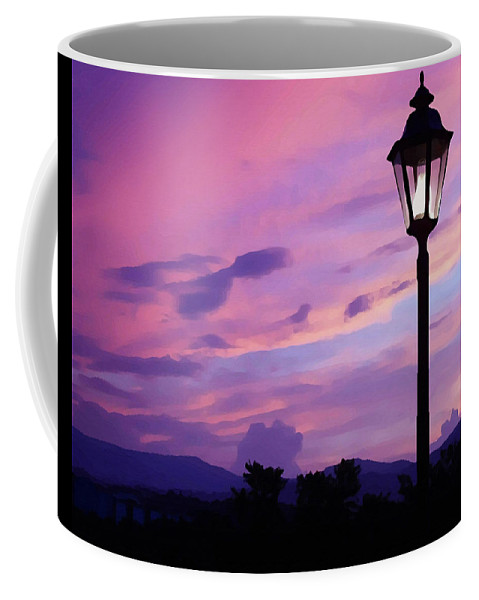 Twilight Time Coffee Mug featuring the painting Twilight Time by Ellen Henneke
