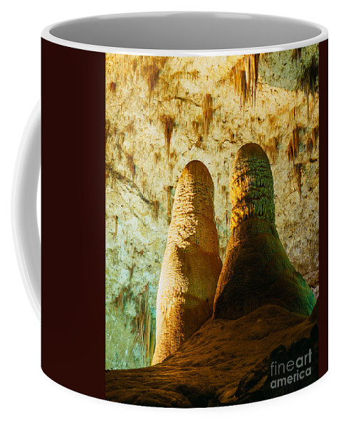 Carlsbad Caverns Coffee Mug featuring the photograph Twin Domes by Tracy Knauer