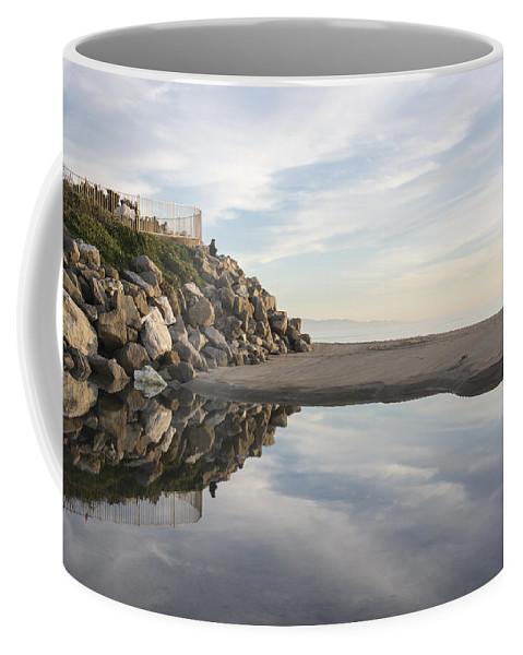 Beach Coffee Mug featuring the photograph Twin Lakes Beach by Bruce Frye