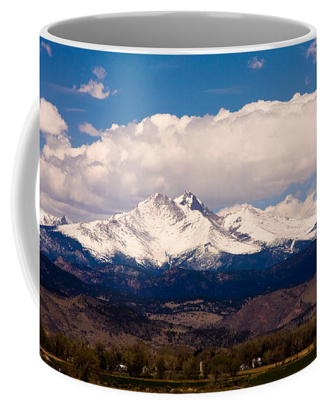 Twin Peeks Coffee Mug featuring the photograph Twin Peaks Snow Covered by James BO Insogna