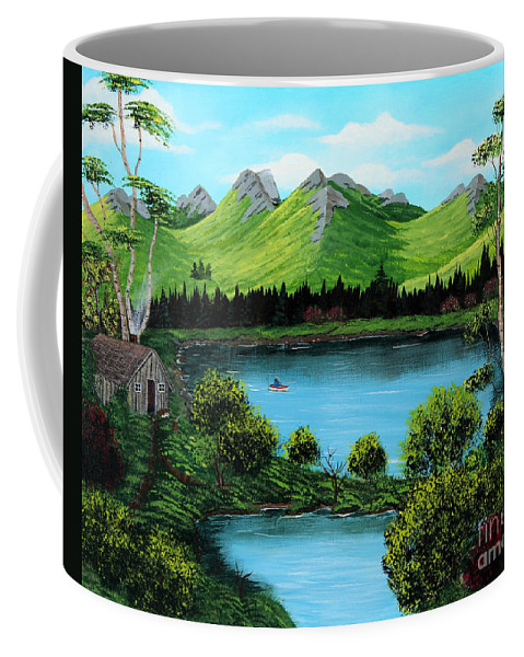 Barbara Griffin Coffee Mug featuring the painting Twin Ponds by Barbara Griffin