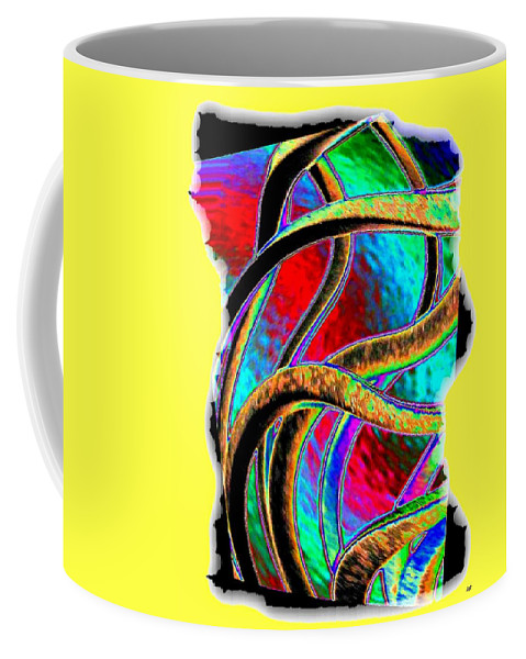 Abstract Coffee Mug featuring the digital art Twist And Shout 3 by Will Borden