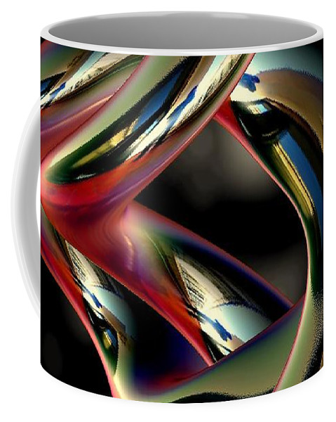 Abstract Coffee Mug featuring the digital art Twisted Abstract 2 by Greg Moores