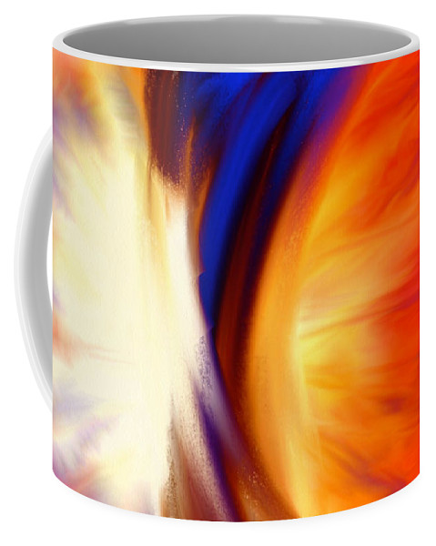 Abstract Greeting Card Coffee Mug featuring the painting Twisted by Anita Lewis