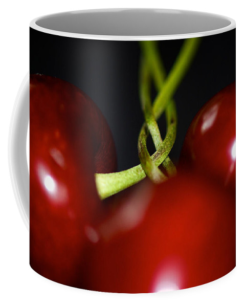Cherries Coffee Mug featuring the photograph Twisted Cherries by Lisa Knechtel