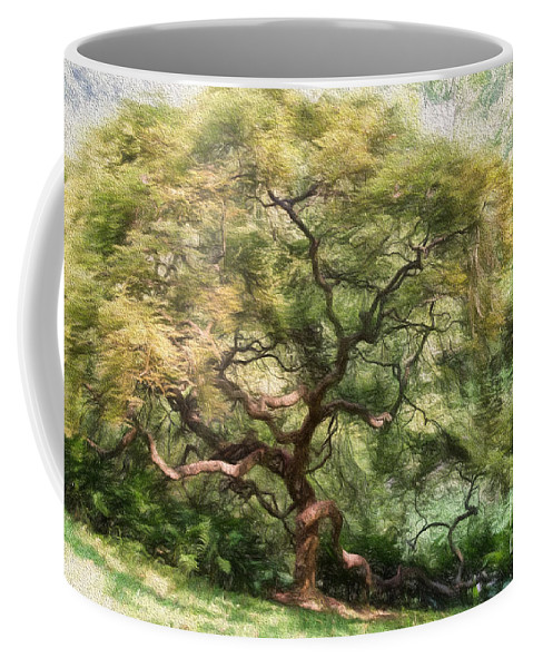 Tree Coffee Mug featuring the photograph Twisty Tree by Lois Bryan