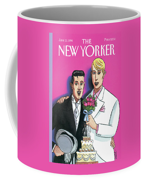June Coffee Mug featuring the painting New Yorker June 13th, 1994 by Jacques de Loustal