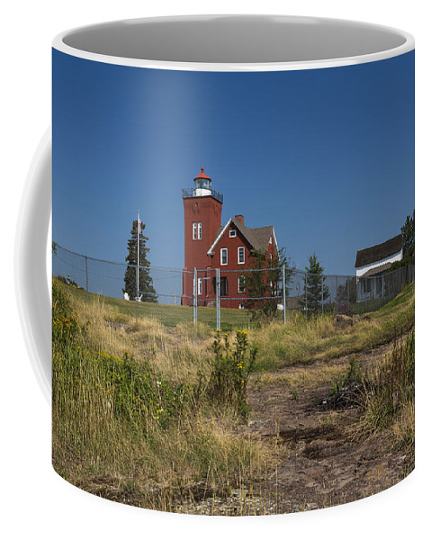 Two Harbors Coffee Mug featuring the photograph Two Harbors Mn Lighthouse 21 by John Brueske