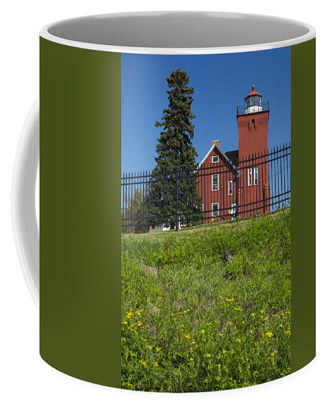 Two Harbors Coffee Mug featuring the photograph Two Harbors Mn Lighthouse 26 by John Brueske