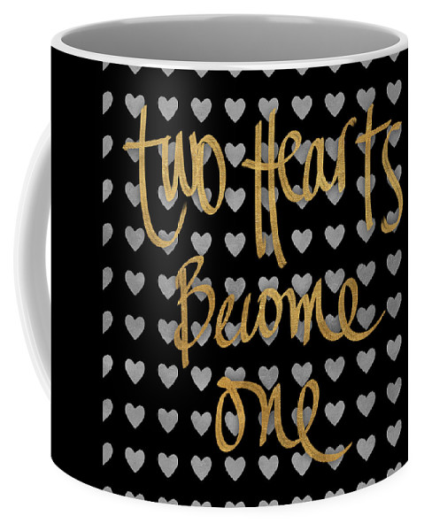 Two Coffee Mug featuring the digital art Two Hearts Become One Pattern by South Social Studio