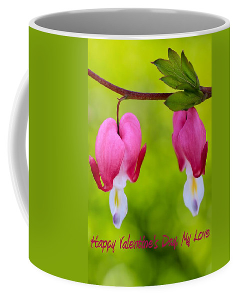 Beautiful Coffee Mug featuring the photograph Two Hearts Valentine's Day by Heidi Smith