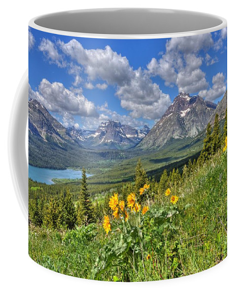 Two Medicine Valley Coffee Mug featuring the photograph Two Medicine Valley by James Anderson