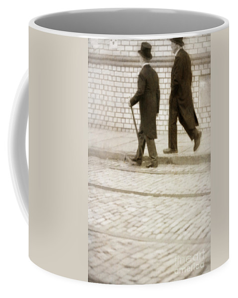 Victorian Coffee Mug featuring the photograph Two Victorian Men Walking by Lee Avison