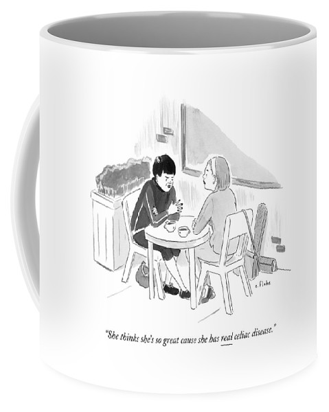 Two Women Speaking At A Coffee Shop Table Coffee Mug