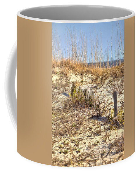9634 Coffee Mug featuring the photograph Tybee Island Dunes by Gordon Elwell