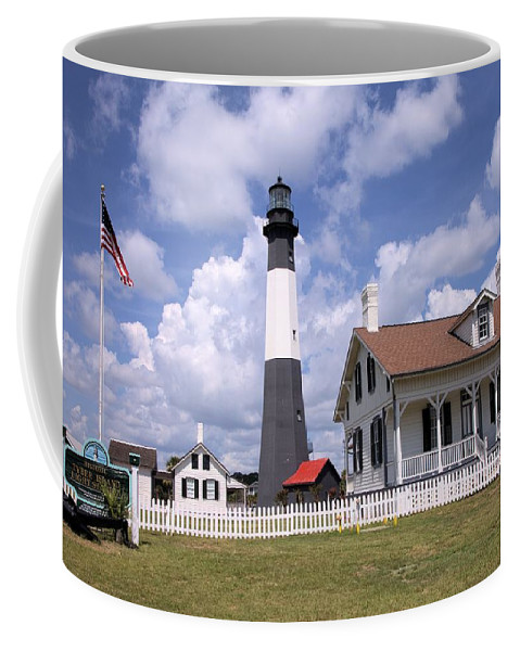 1813 Coffee Mug featuring the photograph Tybee Island Light by Gordon Elwell