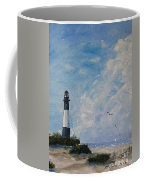 Savannah Coffee Mug featuring the painting Tybee Light by Stanton Allaben