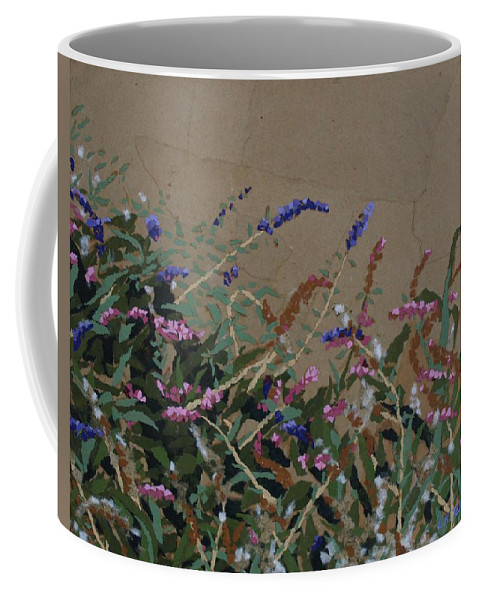 Flowering Butterfly Bush Coffee Mug featuring the painting Tyler by Leah Tomaino