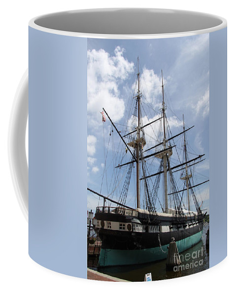 All Sail War Ship Coffee Mug featuring the photograph U S S Constellation by Christiane Schulze Art And Photography
