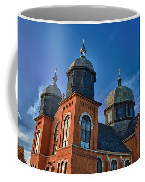 Buildings Coffee Mug featuring the photograph Ukranian Orthodox Church 20049 by Guy Whiteley