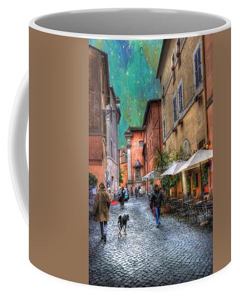 Ancient Coffee Mug featuring the photograph Una Notta A Roma by Juli Scalzi