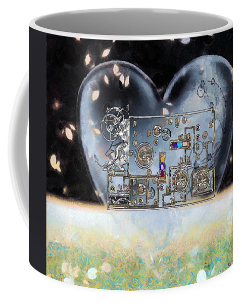 Steampunk Coffee Mug featuring the painting Under Control by RC DeWinter