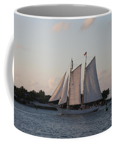Sails Coffee Mug featuring the photograph Under Full Sail by Christiane Schulze Art And Photography