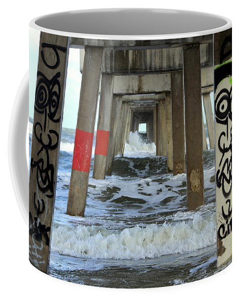 Water Coffee Mug featuring the photograph Under The Bridge by Fiona Kennard