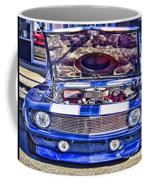 Chevrolet Camaro Coffee Mug featuring the photograph Under The Hood by Cathy Anderson