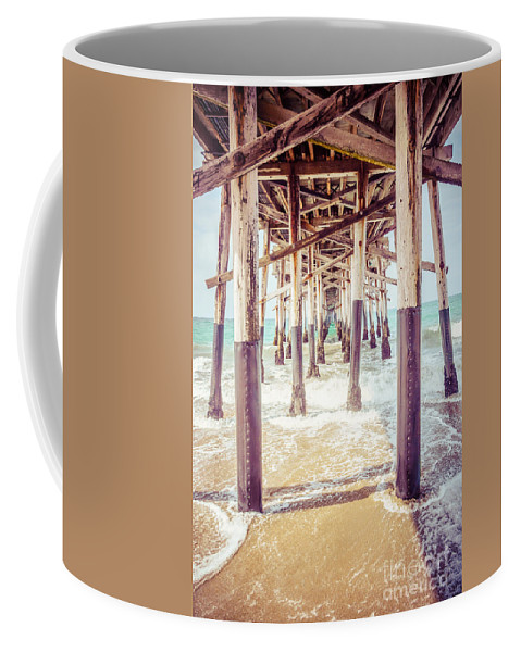 1950s Coffee Mug featuring the photograph Under The Pier In Southern California Picture by Paul Velgos