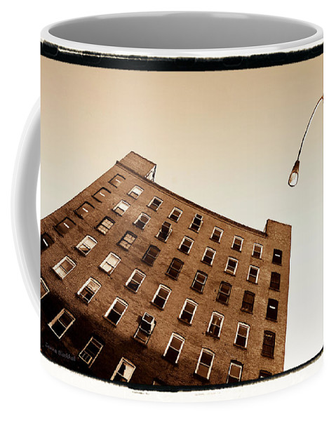 New York Coffee Mug featuring the photograph Under The Street Lamp by Donna Blackhall