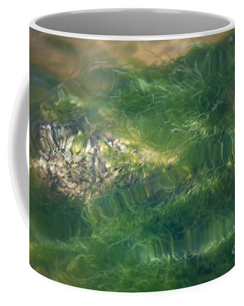 Grass Coffee Mug featuring the photograph Underwater Grass by Dale Powell