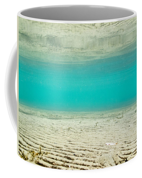 Abstract Coffee Mug featuring the photograph Underwater Sand Beach by Stephan Pietzko