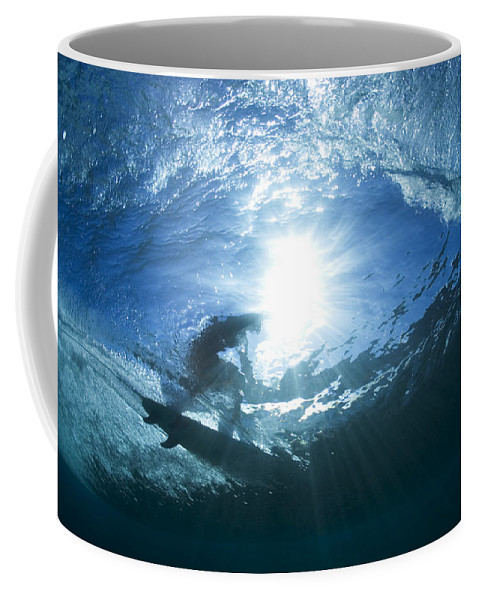 Perfect Surf Coffee Mug featuring the photograph Surfing Into The Eye by Sean Davey