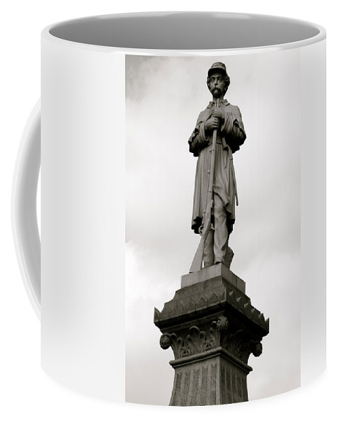 Germantown Coffee Mug featuring the photograph Union Soldier In Market Square by Alice Gipson