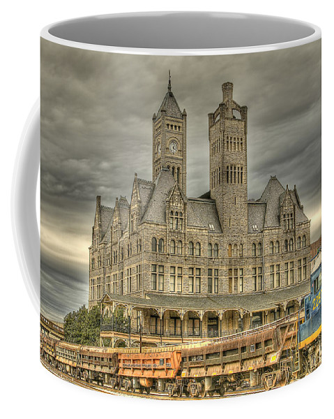 Nashville Coffee Mug featuring the photograph Union Station by Brett Engle