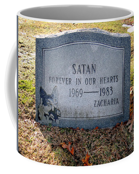 Tombstone Coffee Mug featuring the photograph Unique Epitaph by Ed Weidman