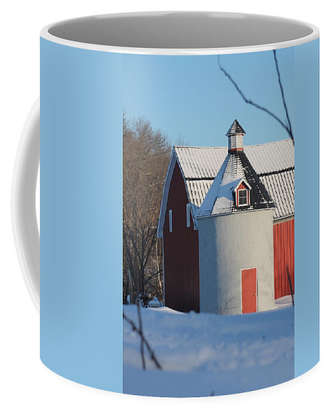 Silo Coffee Mug featuring the photograph Unique Silo by Lowell Stevens