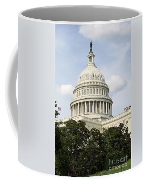 Capitol Coffee Mug featuring the photograph United State Capitol Dome Washington Dc by Christiane Schulze Art And Photography