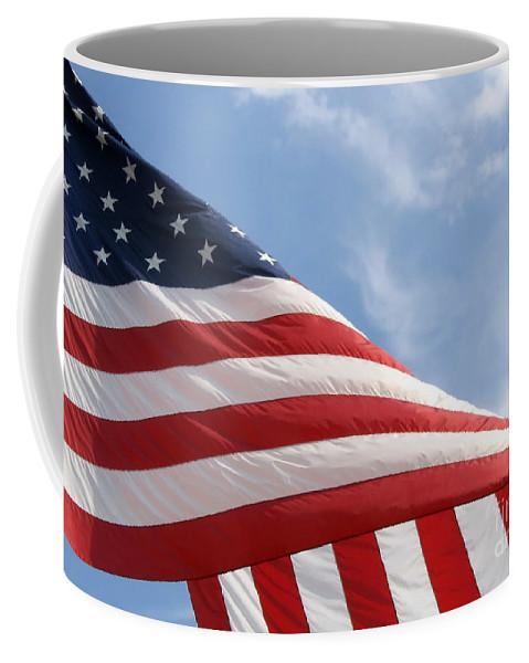 Flag Coffee Mug featuring the photograph United States Flag by Ann Horn