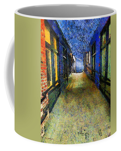 Alley Coffee Mug featuring the painting Universe Alley by RC DeWinter