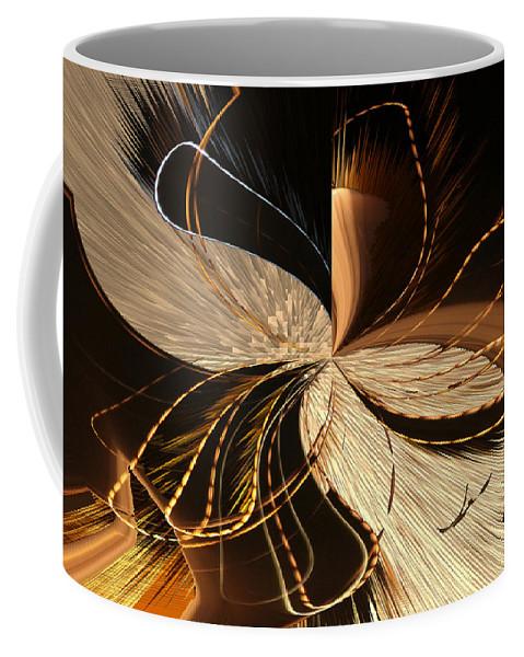 Augusta Stylianou Coffee Mug featuring the digital art Universe Orbits by Augusta Stylianou