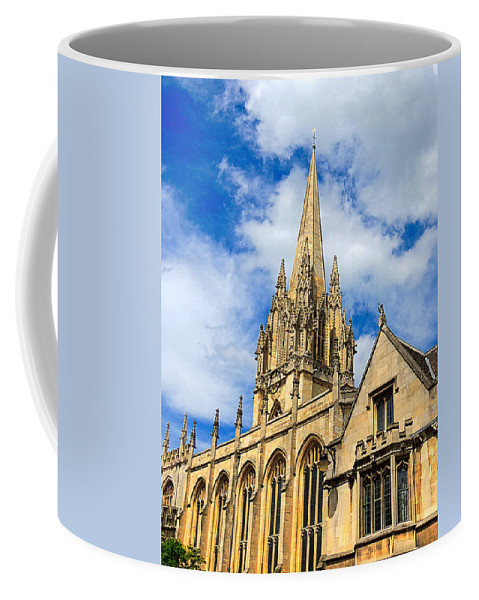 Anglo Saxon Coffee Mug featuring the photograph University Church Of St Mary The Virgin by Marilyn Holkham