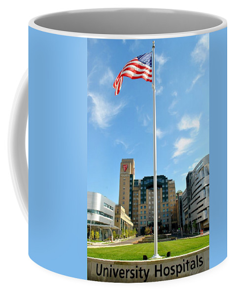 Hospital Coffee Mug featuring the photograph University Hospital by Frozen in Time Fine Art Photography
